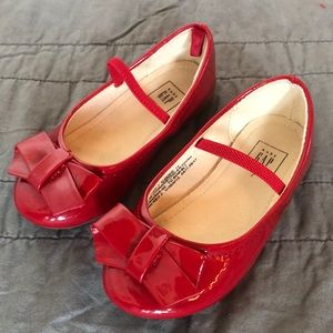 GAP red patin leather shoes. Toddler size 7